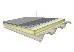 钢结构玻璃棉与防水隔气膜结构